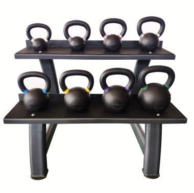Titanium Strength Kettlebells - Pesas Rusas Set 4-24KG + Rack