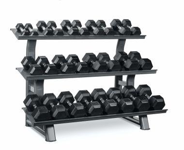 Titanium Strength Set Mancuernas Hexagonales 2- 30Kg + Rack