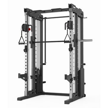Titanium Strength Commercial Dual Pulley, Smith System & Rack