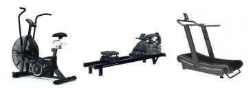 Titanium Strength Pack AirBike + Acqua Rower PRO + Curved Treadmill