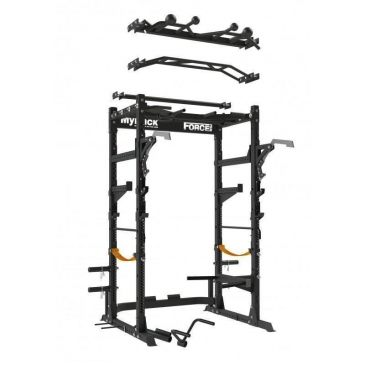 ForceUSA Commercial Power Rack With Bench and Accesories