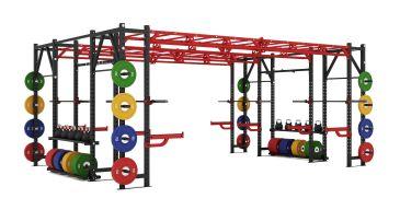 Titanium Strength Comercial Heavy Athletic Bridge Rack - X Line