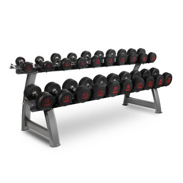 Titanium Strength Dumbbells Set 2,5- 25Kg + Rack