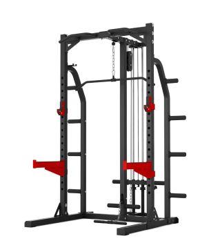 Titanium Strength Evolution Heavy Duty Half Rack With Lat Attachment
