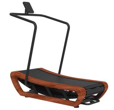 Titanium Strength Wood Curved Treadmill